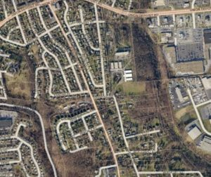 GIS map showing property lines